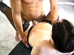 Dude drilling sexual pregnant milf